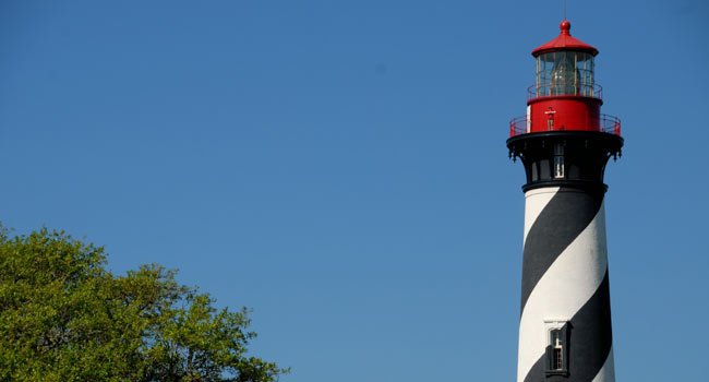 Photo of the beautiful St. Augustine Lighthouse